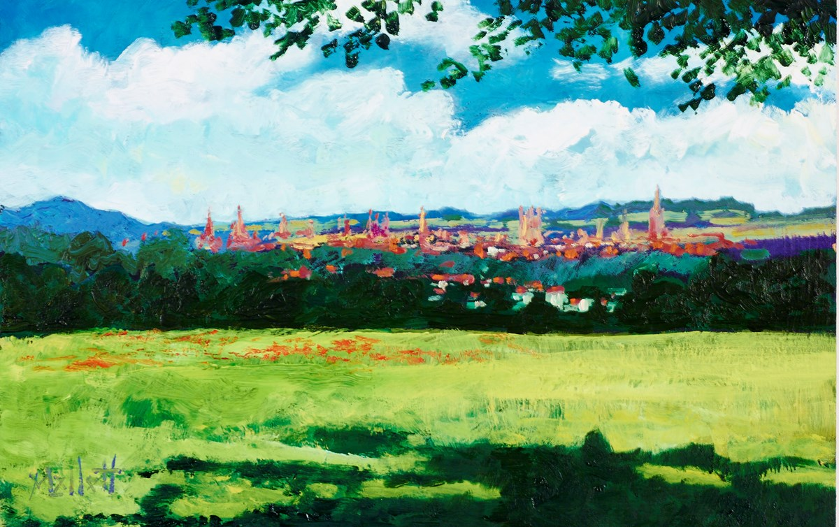 Dreaming Spires by timmy mallett -  sized 12x8 inches. Available from Whitewall Galleries